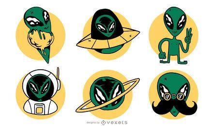Conjunto de vectores alienígenas