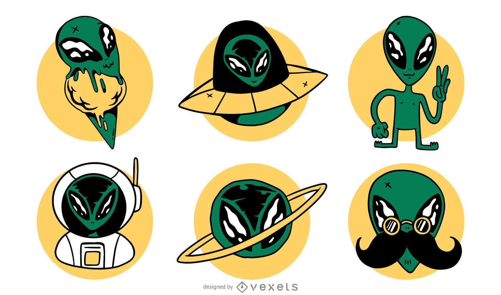Alien vector set