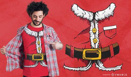 Design de camiseta de terno de Papai Noel