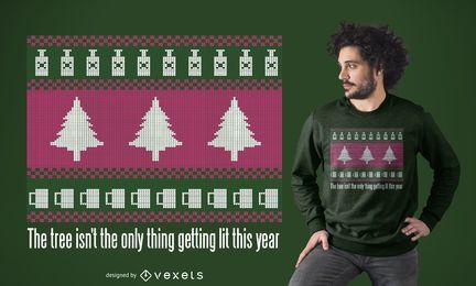 Design de camiseta de camisola feia de Natal