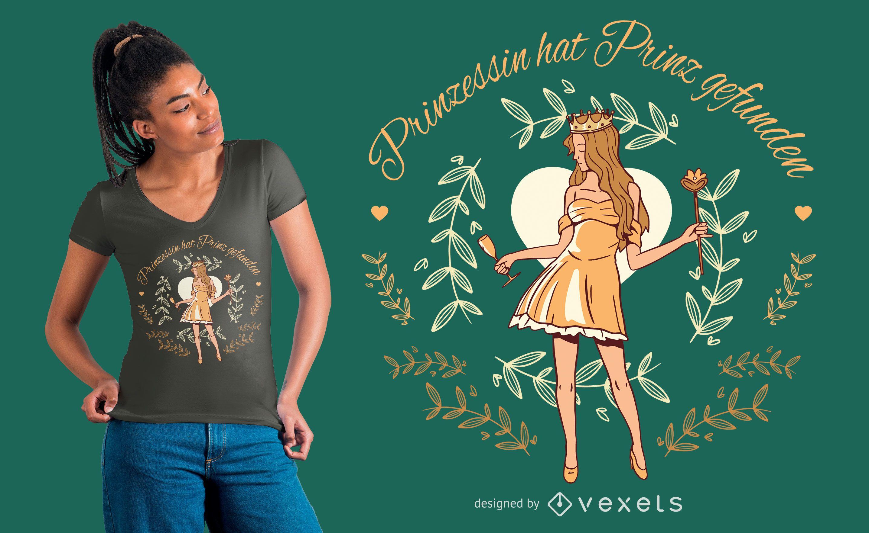 Princess German Quote T-shirt Design
