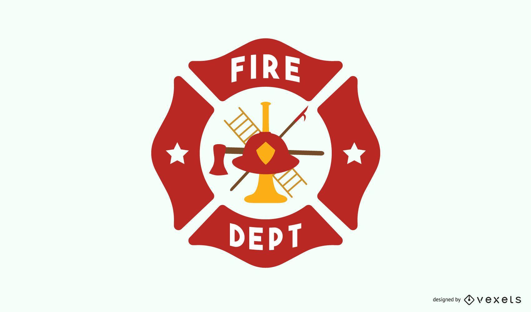 Diseño de logotipo de la estación de bomberos