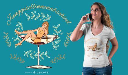Diseño de camiseta de cristal princesa.