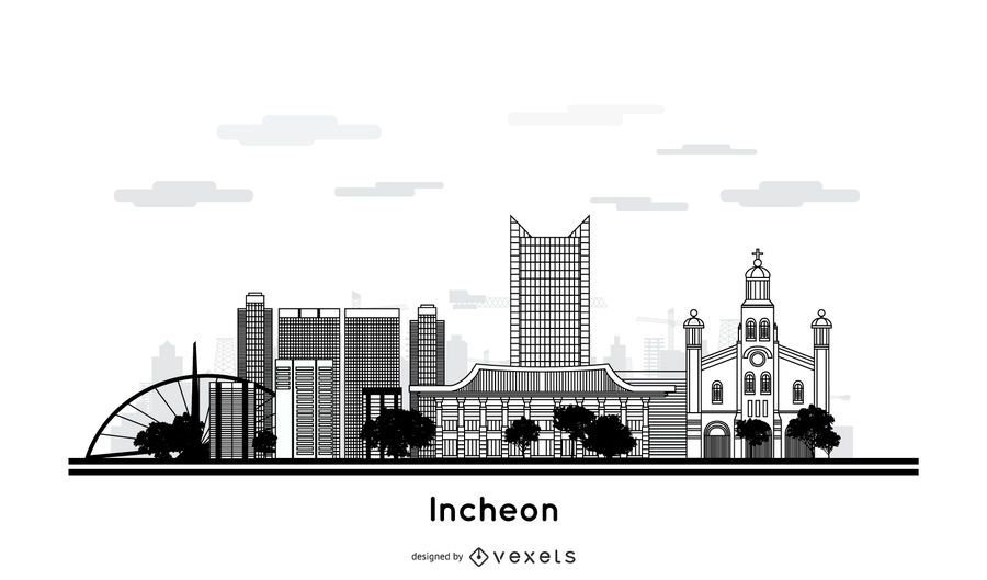 Incheon city skyline design