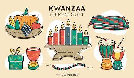 Conjunto de elementos Kwanzaa