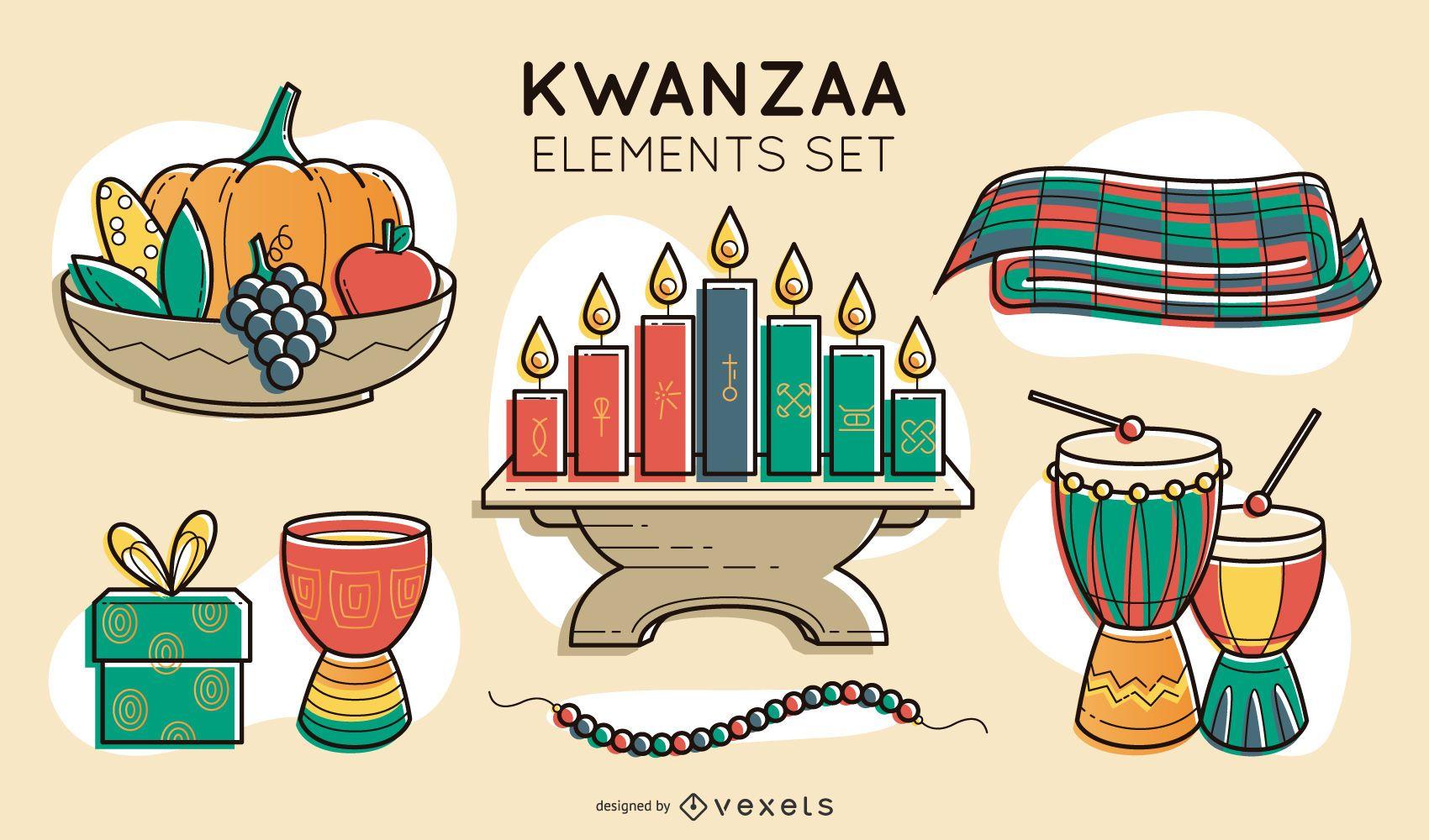 Conjunto de elementos de Kwanzaa