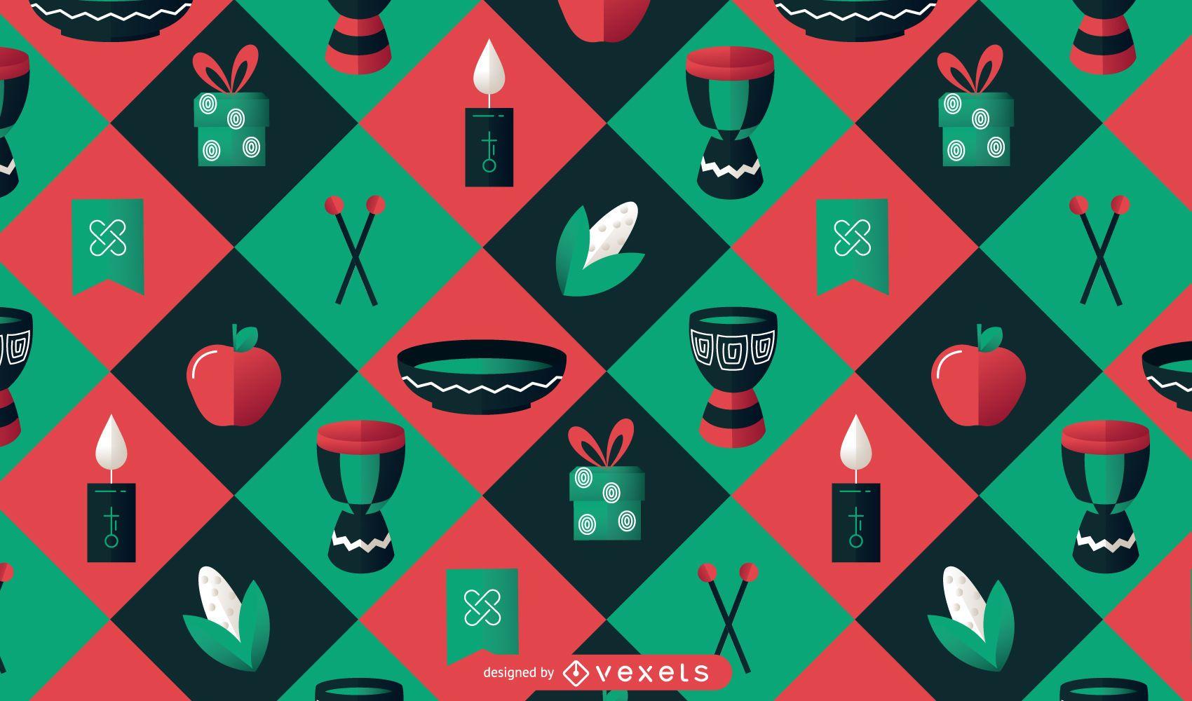 Kwanzaa colorful pattern design