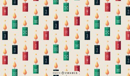 Design de padrão de velas Kwanzaa