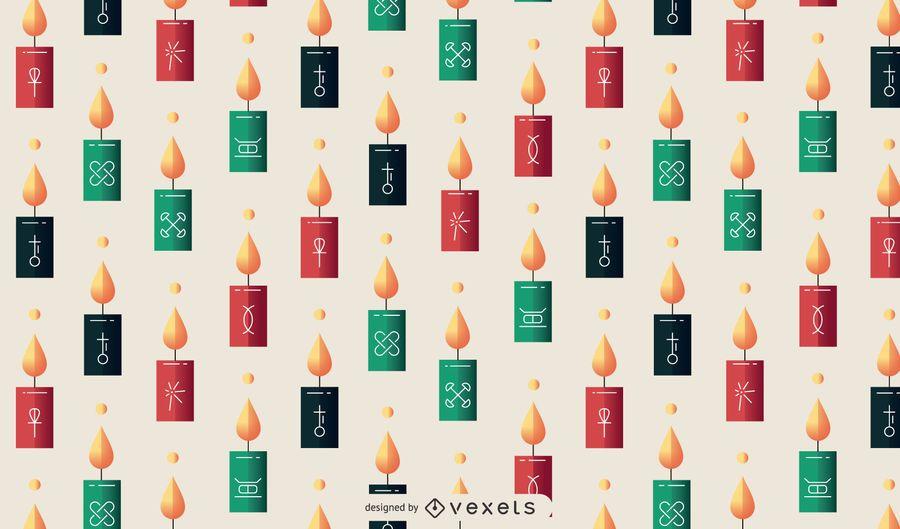 Kwanzaa candles pattern design