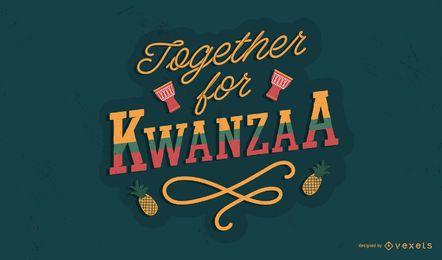 Juntos para o design de letras de Kwanzaa