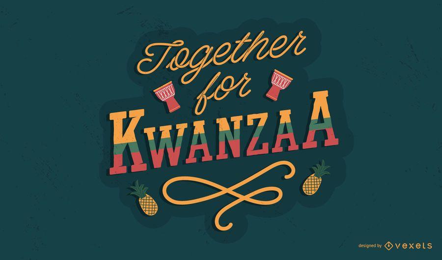 Juntos por el diseño de letras de Kwanzaa