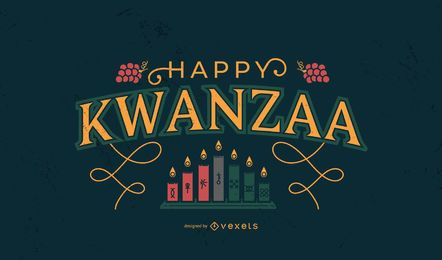 Happy Kwanzaa lettering design