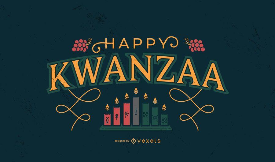 Happy Kwanzaa lettering design