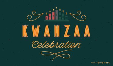 Kwanzaa Feier Schriftzug Design