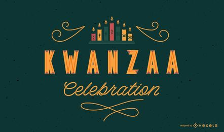 Kwanzaa celebration lettering design
