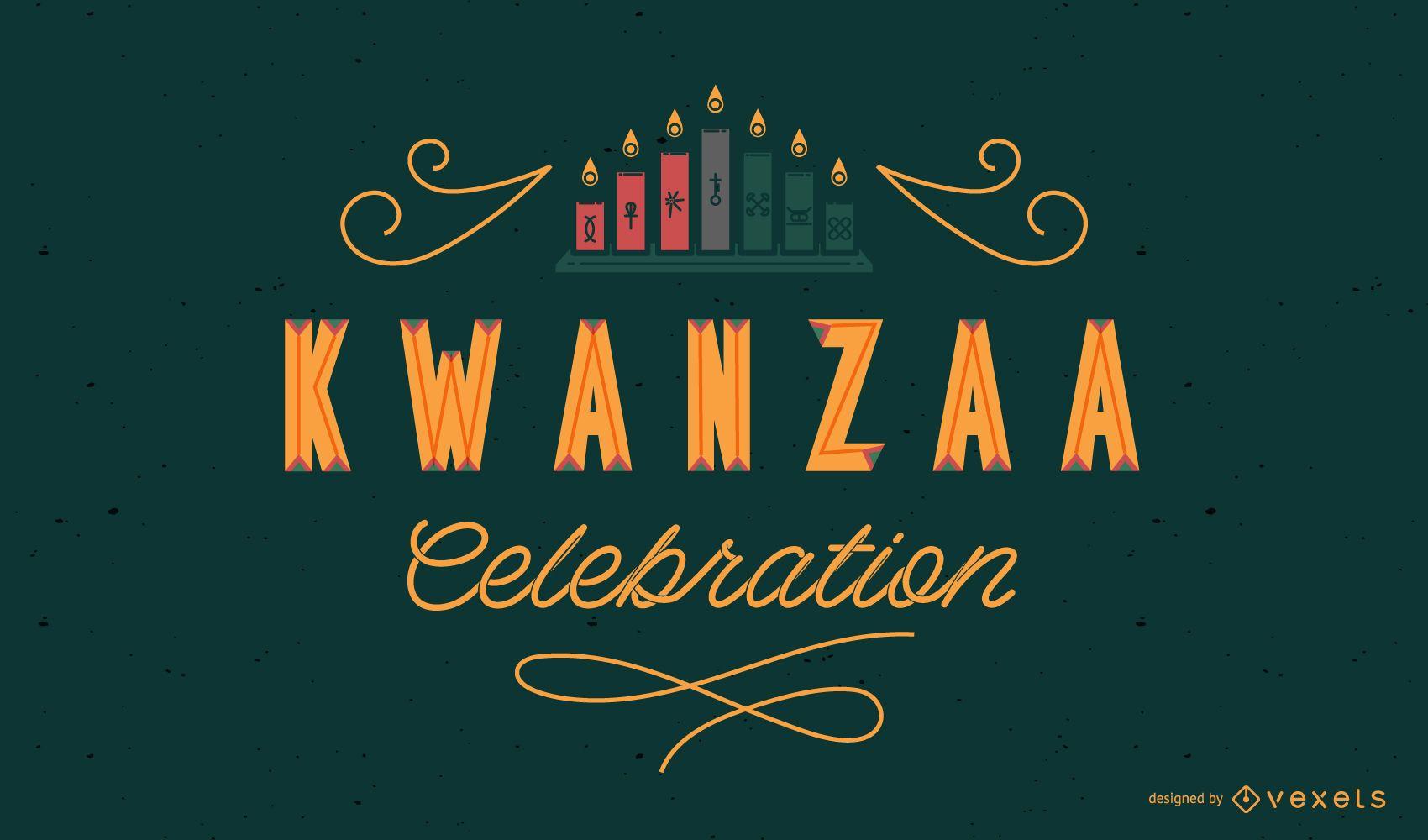 Diseño de letras de celebración de Kwanzaa