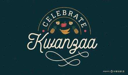 Celebra el diseño de letras de Kwanzaa