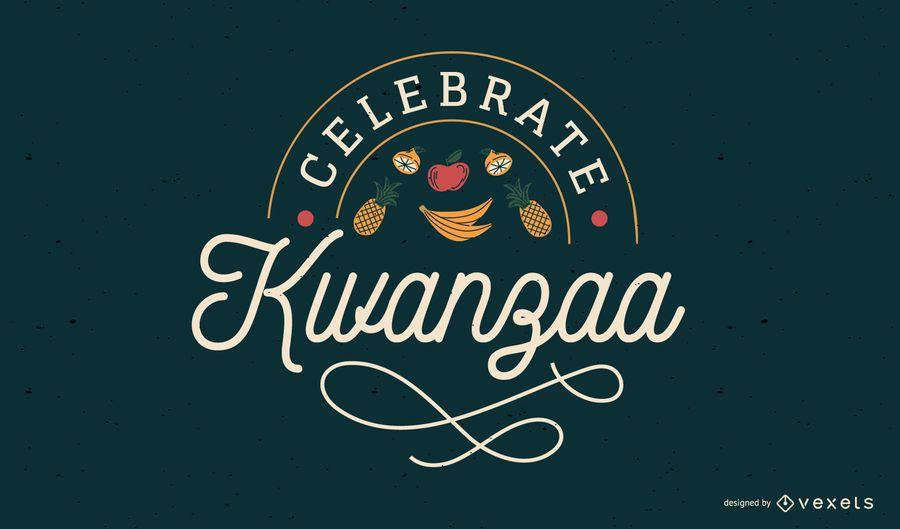 Celebrate Kwanzaa lettering design