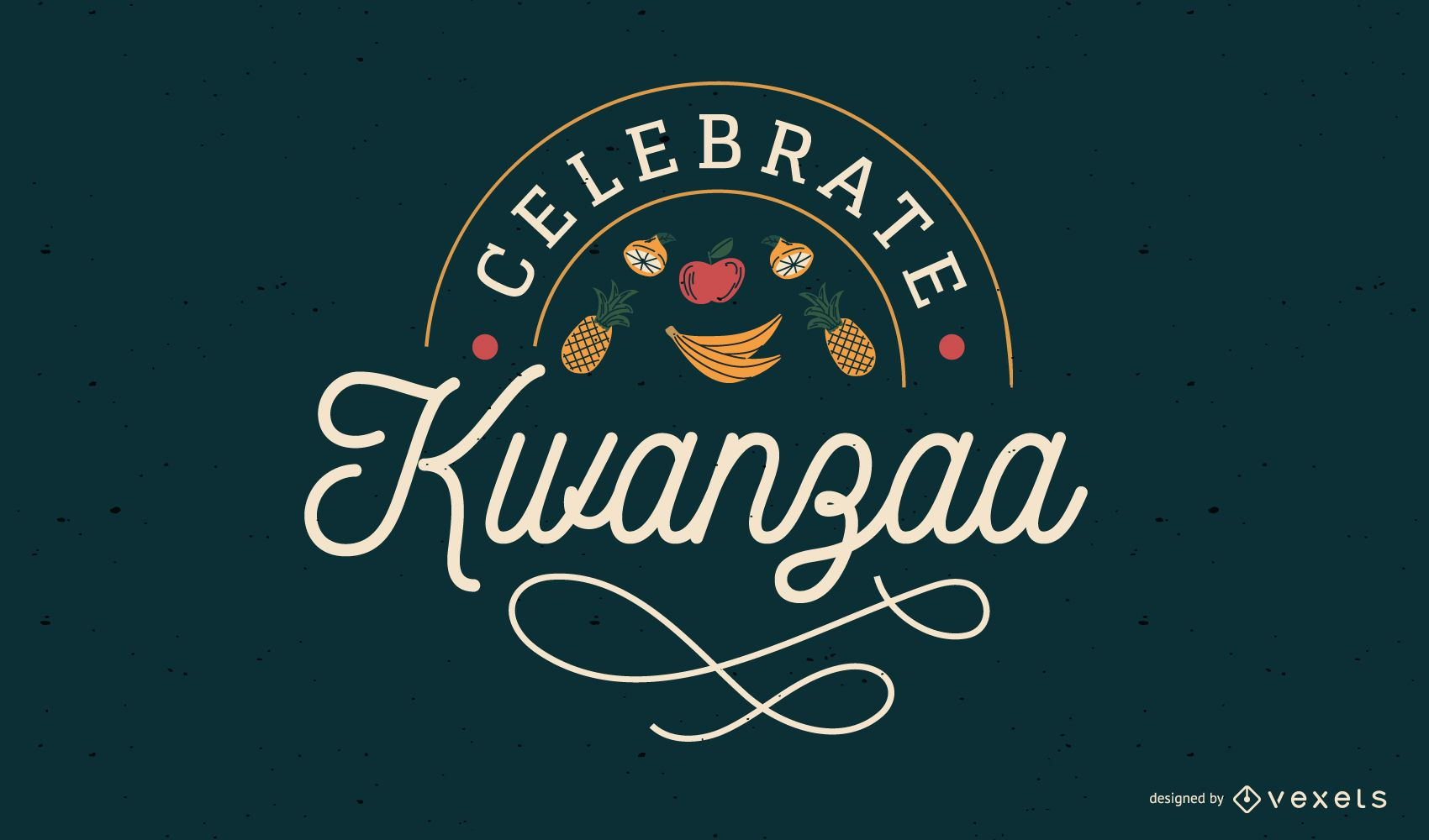 Celebre el diseño de letras de Kwanzaa