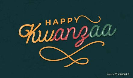 Happy Kwanzaa colorful lettering