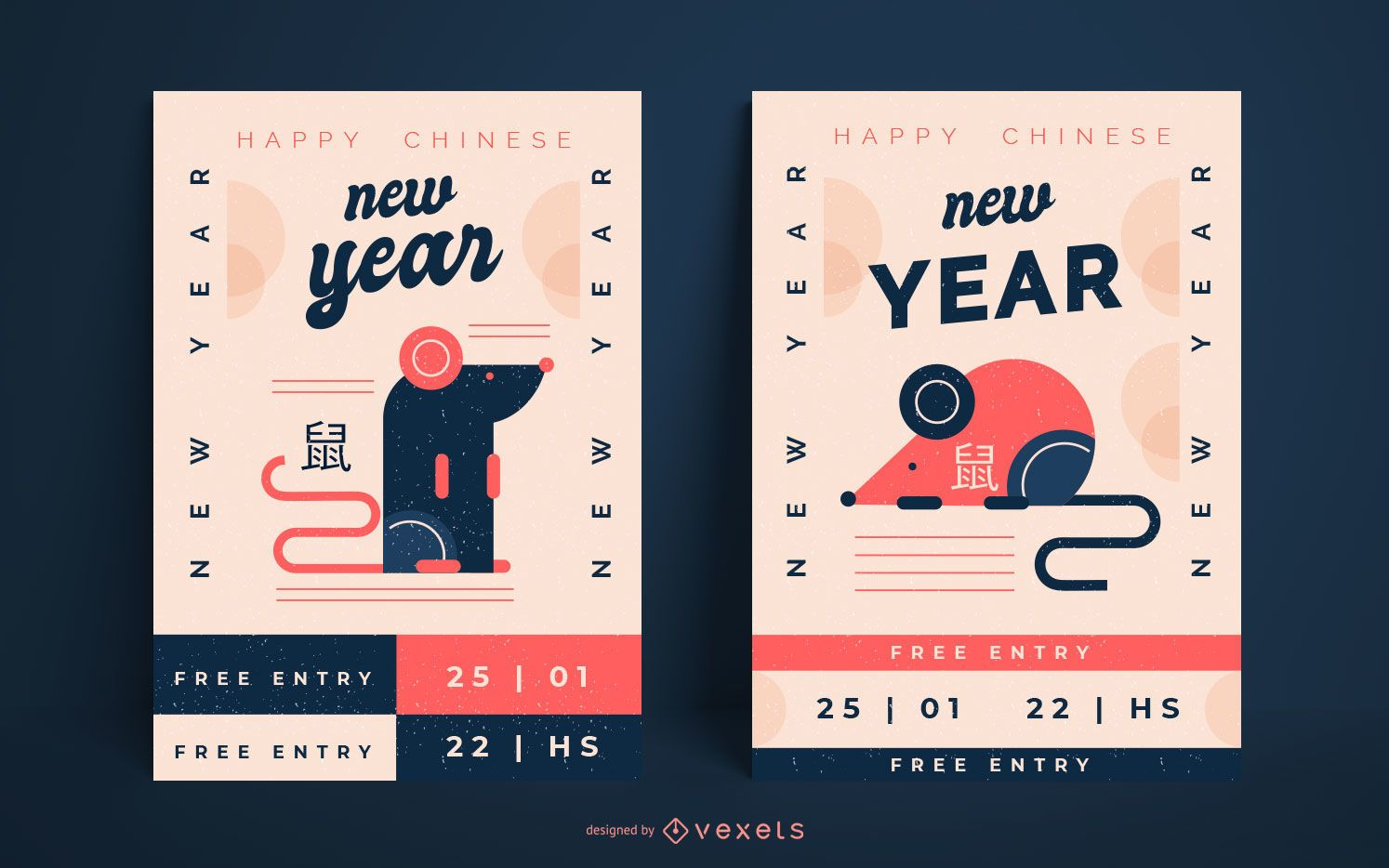 Chinese new year rat posters