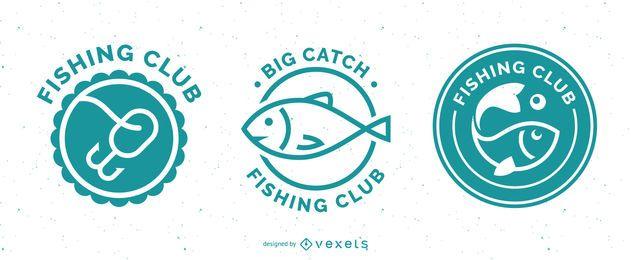 Conjunto de insignias de pesca