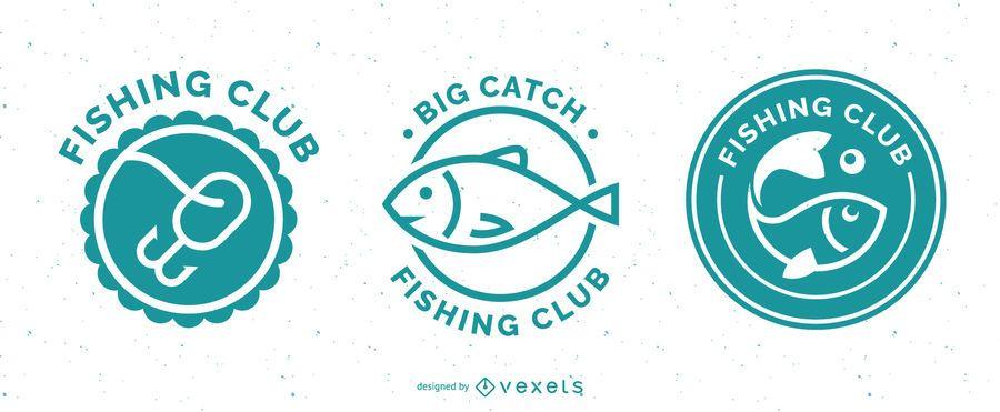 Fishing badges set