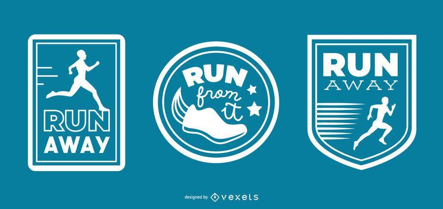 Running badges set