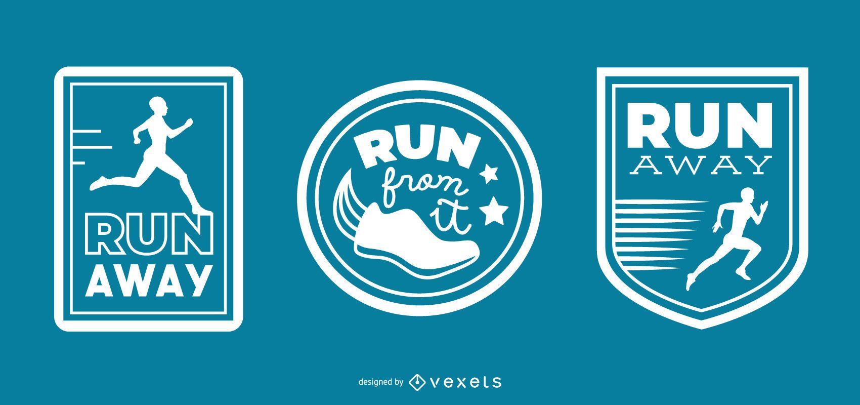 Conjunto de emblemas de corrida