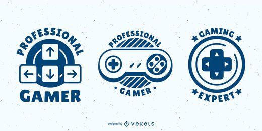 Conjunto de emblemas de videogame