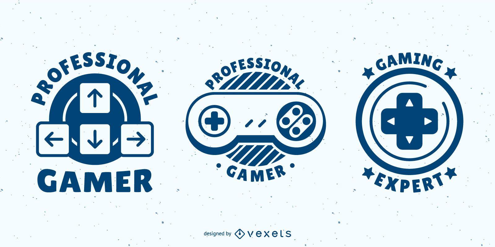 Video game badges set
