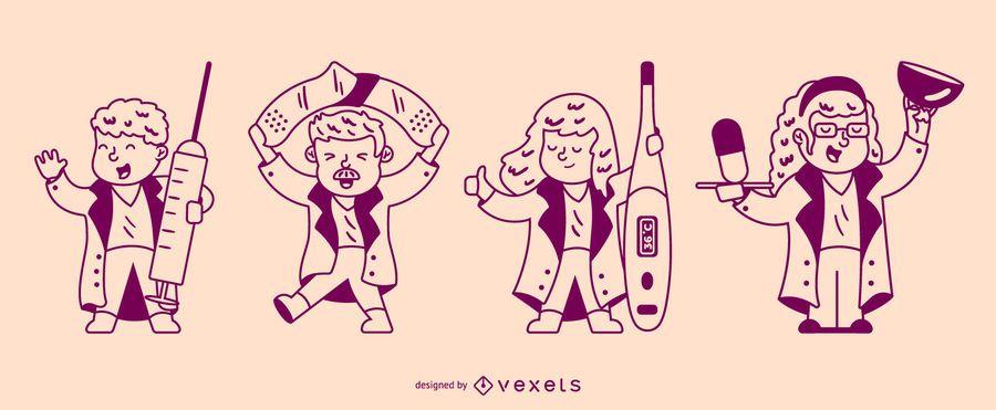 Stroke nurses character set