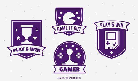 Pacote de emblemas de videogame
