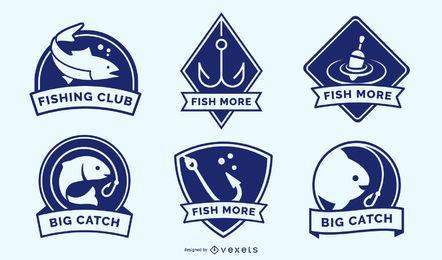 Pacote de emblemas de pesca