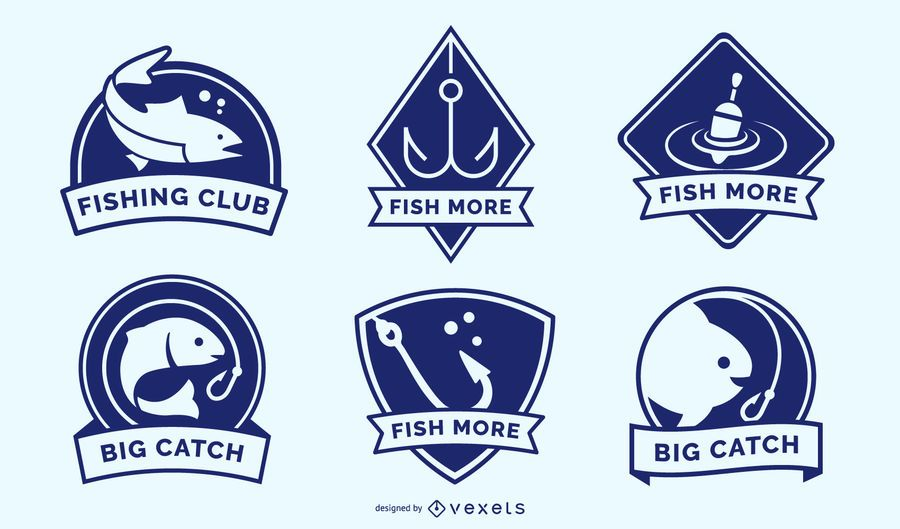 Fishing badges pack