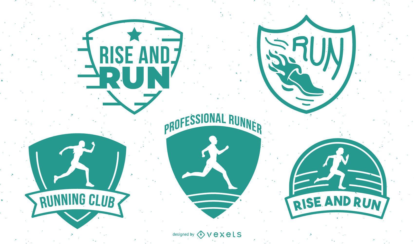 Running badges pack