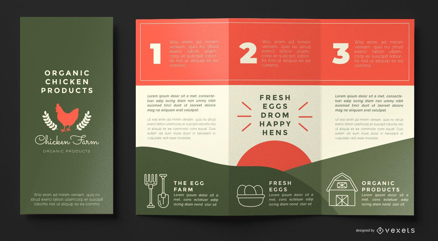 Chicken farm brochure template