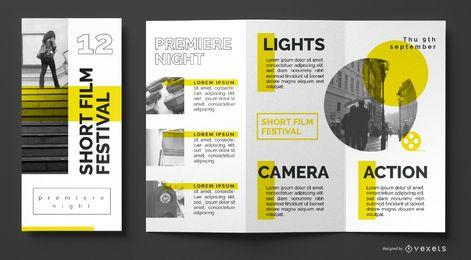 Film Festival Broschüre Vorlage