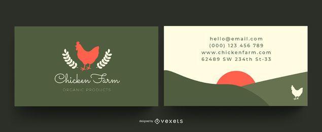 Cartão de visita da fazenda de galinha