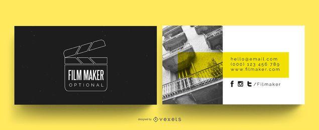 Cartão de visita do cineasta