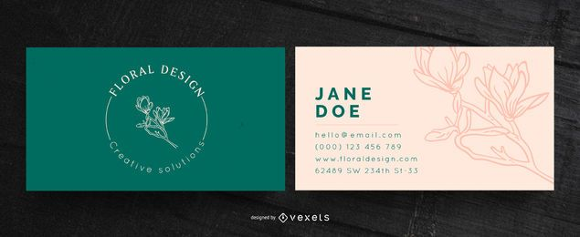 Floral design business card