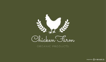 Modelo de logotipo de fazenda de galinha