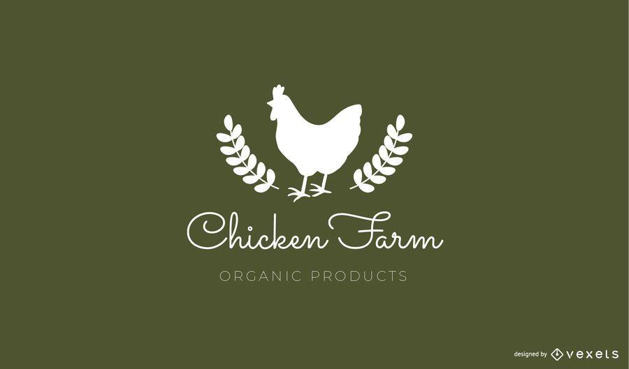 Chicken farm logo template