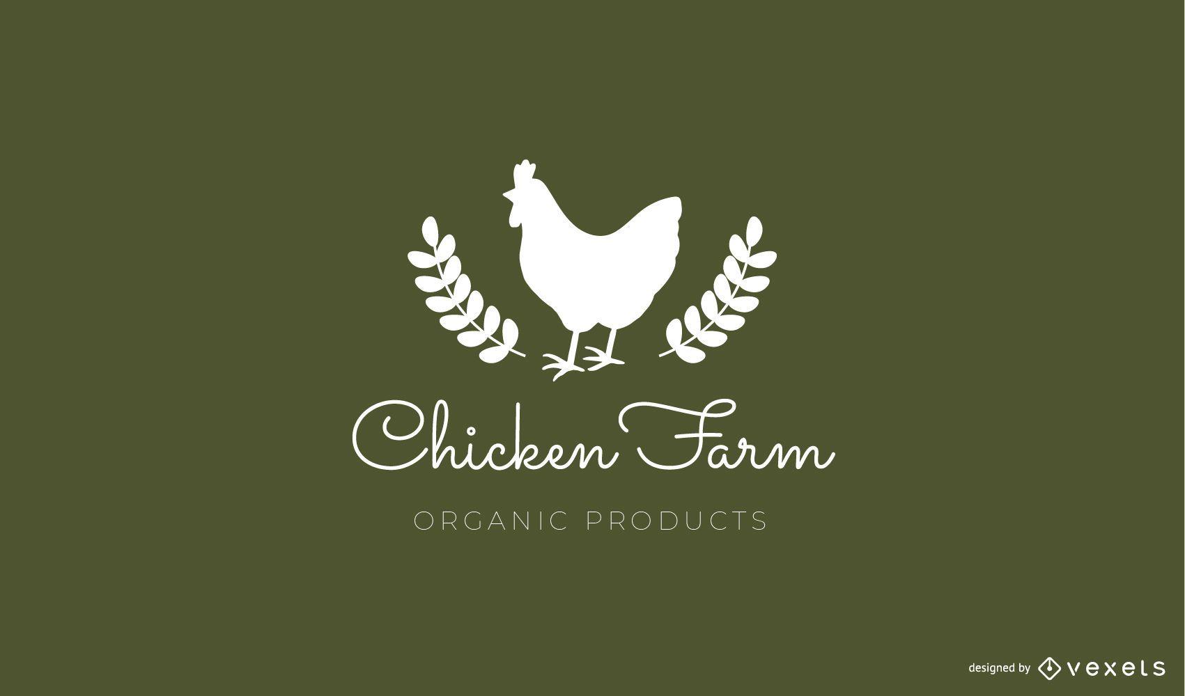 Plantilla de logotipo de granja de pollos