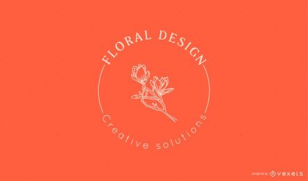 Modelo de logotipo de design floral