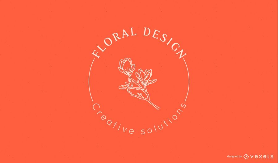 Floral design logo template