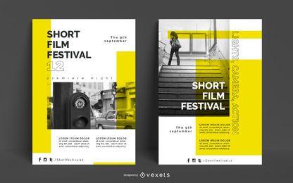 Plantilla de cartel del festival de cine