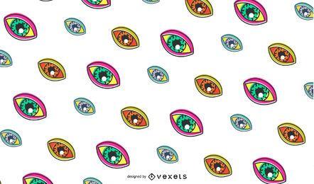 Diseño de patrón de ojos retro