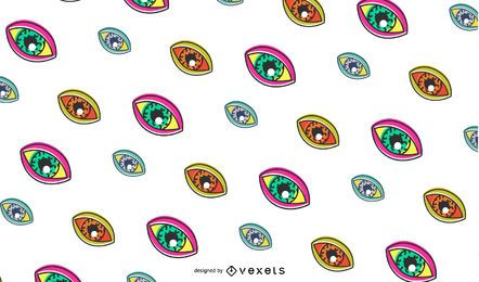 Retro eyes pattern design