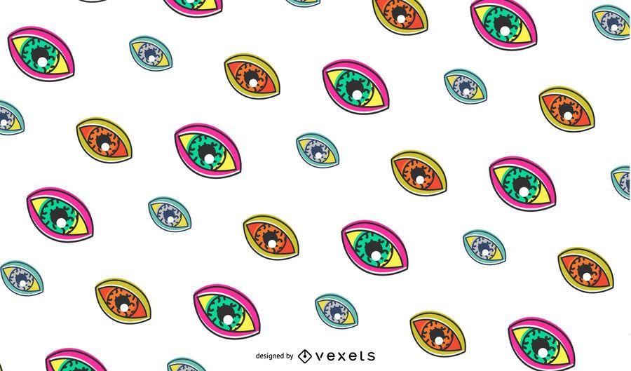 Design de padrão de olhos retrô